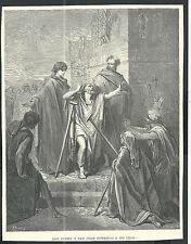 Holy card lamina antique de San Pedro y San Juan image pieuse santino estampa