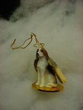 American Foxhound Dog Angel Ornament Hand Painted resin Figurine Christmas puppy