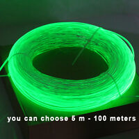 Side Glow Fiber Optic Cable 5 meters 3.0mm Optic Fiber  for car light decoration