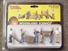 O scale DOCK WORKERS Woodland Scenics Train People  # 2729