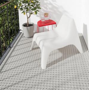 Ikea ALTAPPEN Floor Decking Balcony Terrace Easy Tile Plastic 9pcs - Light grey