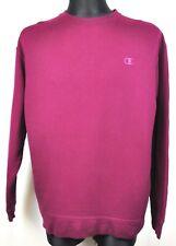 CHAMPION ECO Men's XL Jumper Stitched Logo Burgundy Sweatshirt Crew Neck vtg Top