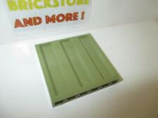 1x Panel Panneau 1x6x5 Corrugated 85941 olive green//vert//grüne Lego