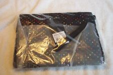 Senz Fay pouch / Cosmetic Travel Bag Sparkling Colors Black w/ Dots NIP