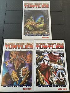 TMNT #'s 19, 20 & 21- RETURN TO NEW YORK- 1989, Books ONE, TWO, AND THREE