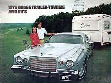 DODGE traino & RVS 1975 USA delle vendite sul mercato BROCHURE CAMPER CAMPER