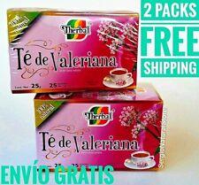 2 PACKS VALERIAN TEA 50 BAGS 1 G. EACH TE DE VALERIANA JUL / 2022 FREE SHIPPING