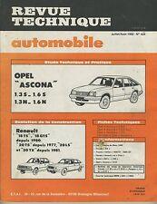(14A)REVUE TECHNIQUE AUTOMOBILE  OPEL ASCONA / RENAULT 18 et 20