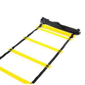 Agility Training Ladder Soccer Speed Jumping Sport Equipment 3.5m Yellow