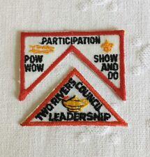 BSA Participation Pow Wow Show & Do 2- Part Patch Two Rivers Council Leadership