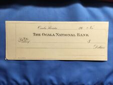 1910s The Ocala National Bank Florida Obsolete Check NEW Uncirculated