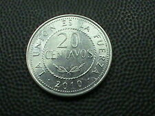 BOLIVIA    20 Centavos    2010   ,   $ 3.99  maximum  shipping  in  USA