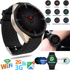 Large Touch Screen Unlocked 3G Smart Watch Bluetooth Phone GPS WIFI for iphone X