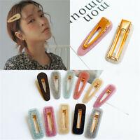 Women Bling Acid Acrylic Long Barrettes Hair Clip Hairpin Hair Pin Accessories