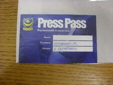 26/04/2003 Ticket: Portsmouth v Rotherham United [Press Pass] . Any faults with
