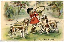 GERMAINE BOURET. J'aime le son du cor ... CHIEN. DOG. CHASSE A COURRE.