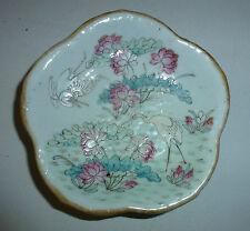 Chinese Antique Porcelain Bowl Tray Tongzhi Mark White Cranes in Lotus Pond
