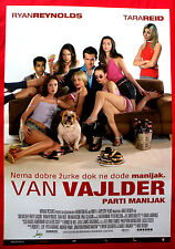 VAN WILDER  PARTY LIAISON 2002 RYAN REYNOLDS TARA REID UNIQ SERBIAN MOVIE POSTER