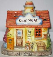 NEW CERAMIC VILLAGE VOTIVE CANDLE HOLDER Shoe Store
