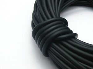 10 Meters Black Rubber 3mm Cord Thread String for Necklace Pendants