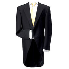 """100% Wool Traditional Black Morning Coat 48"""" Long - Made in the UK"""
