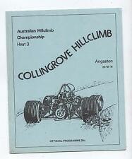 1974 Collingrove Hill Climb Programme Production Touring Racing Sports Vintage