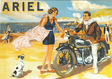 ROBERT  OPIE  ADVERTISING  POSTCARD  -  ARIEL  MOTORCYCLE