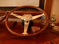 "Bentley Turbo R Wood Steering Wheel 1985 - 89 Rivets 15"" NARDI Ivory Horn Button"