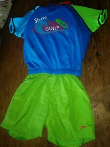 NWT Floatee Swimsuit boys 2-4 years Speedo swim outfit trunks top swimming NEW