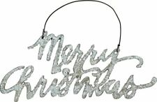 Merry Christmas Tin Hanging Ornament Primitives By Kathy ~ 2.5 Inch x 5 inch