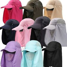 Outdoor Sun Hat 360°UV Protection Ear Neck Cover Flap Cap Fishing Hunting Hiking