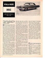 1967 DODGE POLARA / MONACO ~ ORIGINAL NEW CAR PREVIEW ARTICLE / AD