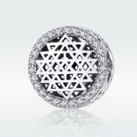 European 925 Sterling Silver Charm Beads CZ Pendant Fit Necklace Bracelet Chain