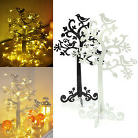 Black or White Metal JEWELLERY Earring Ring TREE DISPLAY STAND Holder