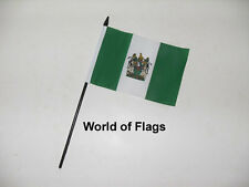 "RHODESIA SMALL HAND WAVING FLAG 6"" x 4"" Rhodesian Table Desk Crafts Display"