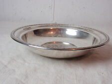 "Sterling Silver Centerpiece Bowl Vintage Repousse Wallace 10"" Aesthetic Movement"