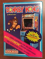 Donkey Kong (Intellivision, 1982) COLLECTORS CONDITION QUALITY NEW SEALED COLECO