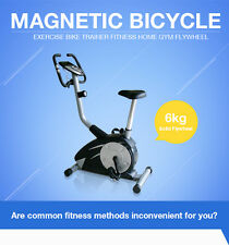 NEW Upright Magnetic Exercise Bicycle Bike Fitness Exercise Gym Heavy Duty Steel