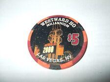 New listing Westward Ho Casino, Las Vegas - $5 Chip - 1999 -Millennium 2000 / Ho-Waiian