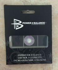 POWER BALANCE NEGATIVE ION ENERGY STRENGTH FLEXIBILITY CLEAR & PURPLE NECKLACE!