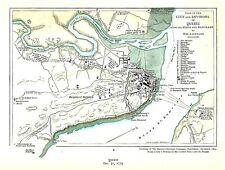 New listing Original 1775 Revolutionary War Map Siege & Blockade of Quebec by the Americans