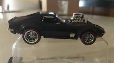Hot Wheels Custom Gas Monkey Garage Corvette Black W/ Real Riders Redlines!