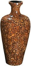 Howard Elliott Small Acacia Wood Mosaic Decorative Vase NEW Home Decor 24""