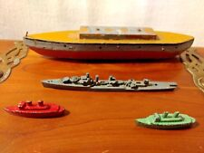 US Destroyer Porter Class Miniature Ships Vintage, Metal, Wood Lot of (4) Toys