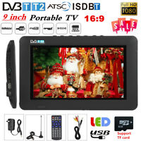 "Portable 9"" LED Digital Television TFT-LED HD 1080P TV Player DVB-T/T2 ATSC ISDB"