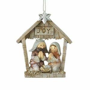 Heaven Sends Joy Nativity Stable Scene - Traditional Christmas Tree Decoration