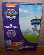 Valentines Day Cards (Box of 32) Nickelodeon Paw Patrol  with Stickers