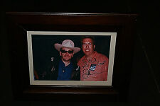 ELVIS COSTELLO HAND SIGNED AUTOGRAPHED 4X6 PHOTO W/Wooden Glassed Frame