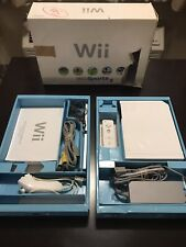 Nintendo Wii (RVL-001) Console Bundle Wii Sports TESTED AND WORKS!! No Game