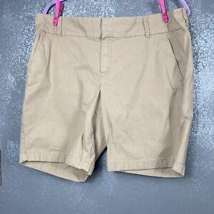 "J Crew Factory 9"" Frankie Bermuda chino short.  khaki. size 12"